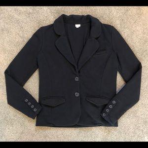 J. Crew Black 100% Cotton Casual Blazer